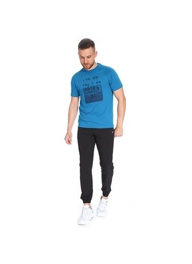 Sportive Erkek Mavi Tişört 711007-Ptr Mavi